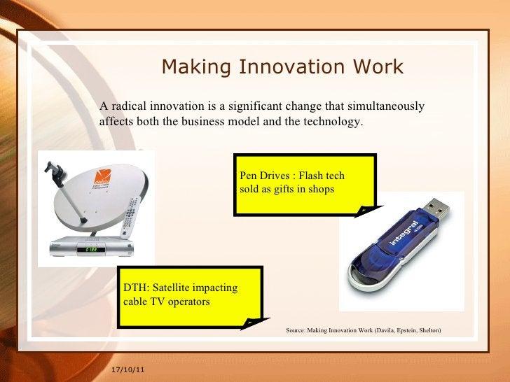 17/10/11 Making Innovation Work Source: Making Innovation Work (Davila, Epstein, Shelton)   A radical innovation is a sign...