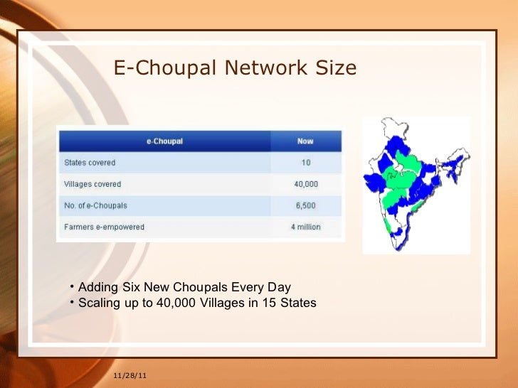 e choupal case study E chaupal case study 1 e-choupal – an indian success story e-choupal : group 8 b 2 agenda • introduction • what.