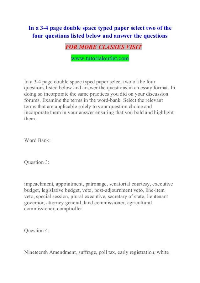 4 page essay
