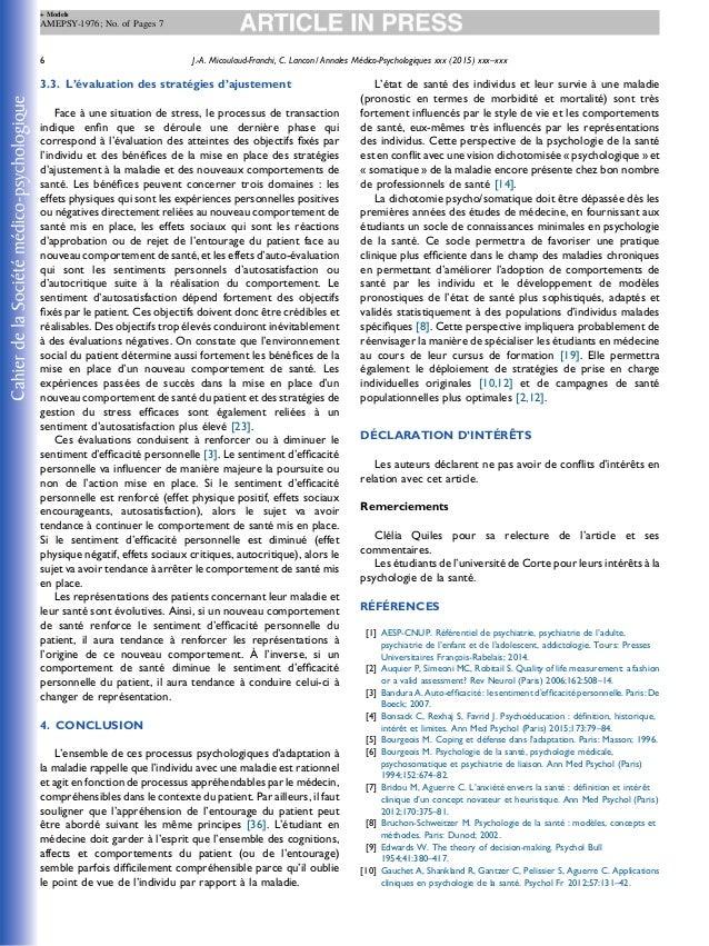 3.3. L'évaluation des stratégies d'ajustement Face à une situation de stress, le processus de transaction indique enfin que...