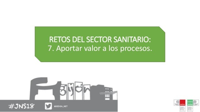 RETOS DEL SECTOR SANITARIO: 7. Aportar valor a los procesos.