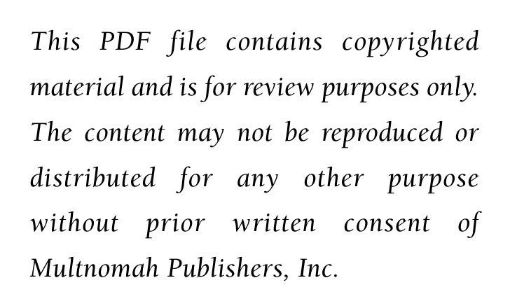 This PDF file contains copyrighted material and is for review purposes only. The content may not be reproduced or distribu...
