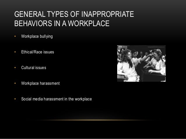 behaviors in the workplace Our behavior at work often depends on how we feel about being there therefore,  making sense of how people behave depends on understanding their work.