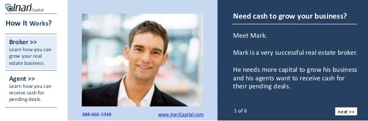 Need cash to grow your business?How It Works?                                                          Meet Mark.Broker >>...