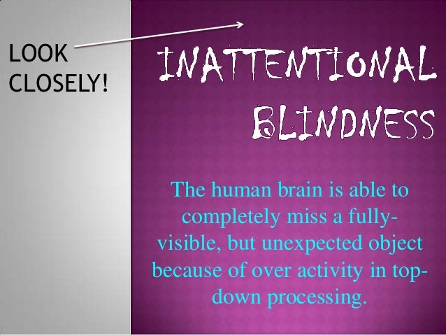 Inattentional blindness wikicog