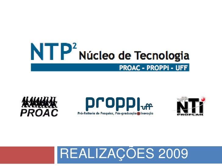 Realizações 2009<br />