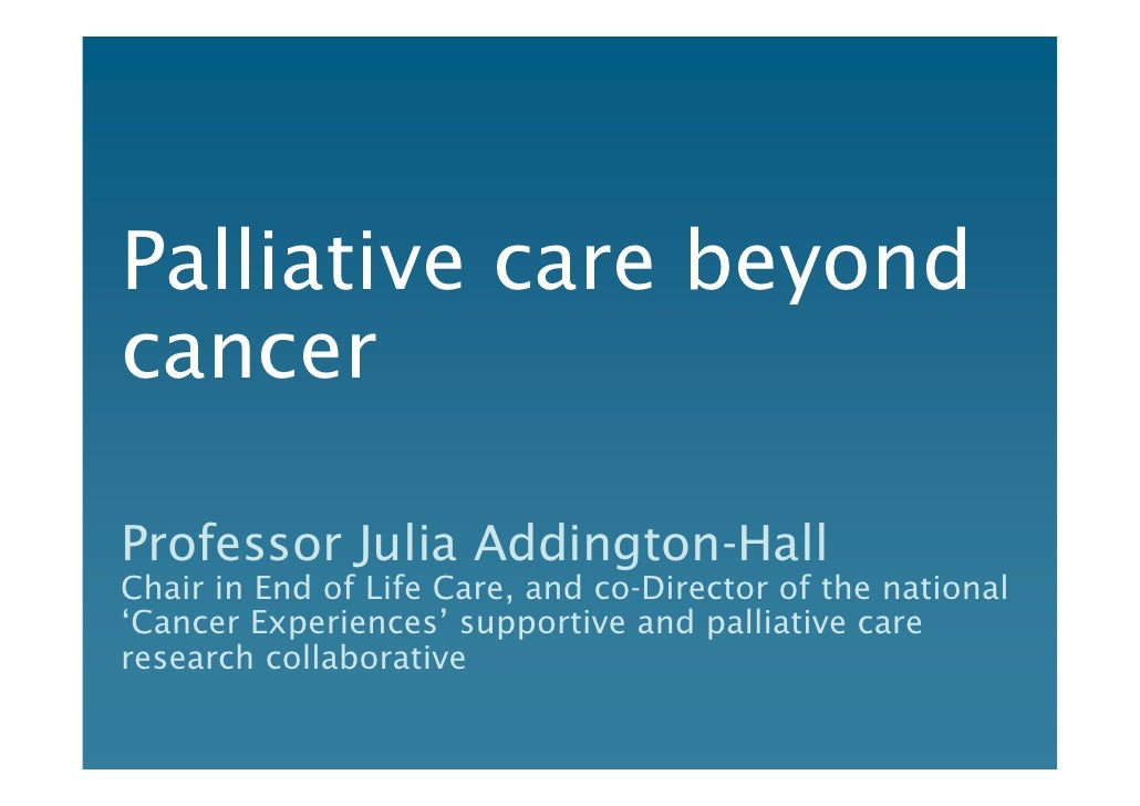 palliative or supportive care american cancer
