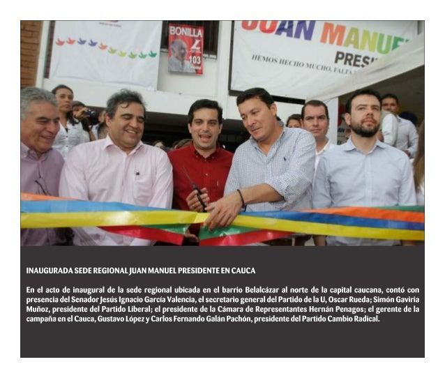 Inaugurada sede regional Juan Manuel Presidente en Cauca