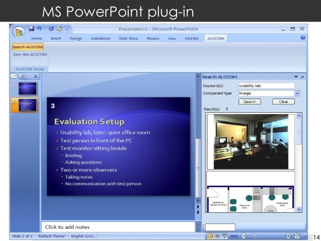 MS PowerPoint plug-in  14