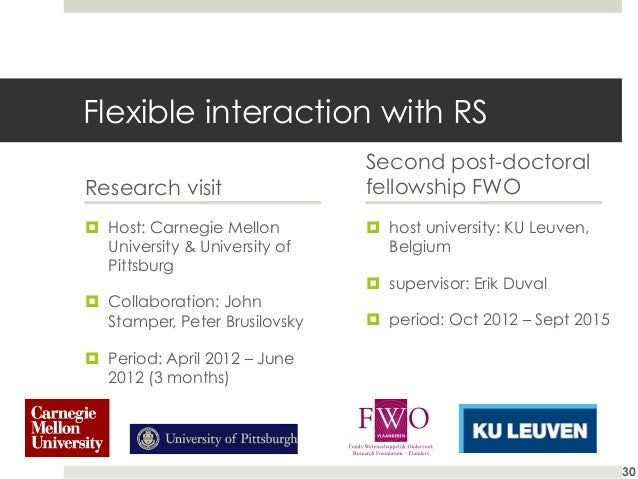 Flexible interaction with RS Research visit ¤ Host: Carnegie Mellon University & University of Pittsburg ¤ Collaborati...
