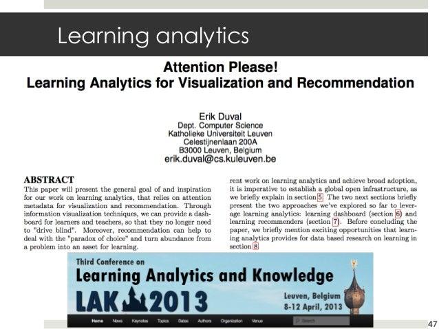 Learning analytics  47