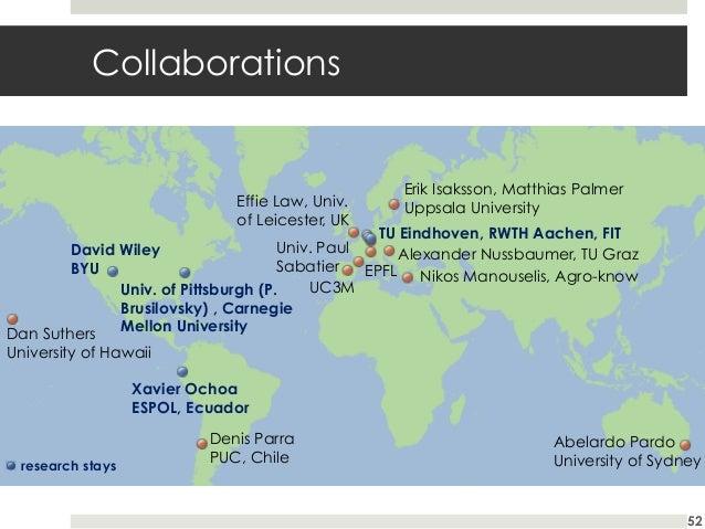 Collaborations  Effie Law, Univ. of Leicester, UK  Erik Isaksson, Matthias Palmer Uppsala University  TU Eindhoven, RWTH A...