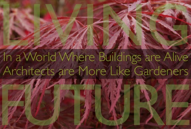 In a World Where Buildings are Alive  Architects are More Like Gardeners LIVING FUTURE