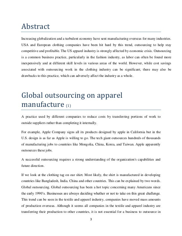 outsourcing production outsourcing garment manufacturing
