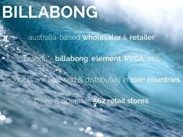 research on billabong Billabong has the most essential surfwear & clothing get the season's hottest boardshorts, bikinis, t-shirts, hats & more for men and women from tillys.