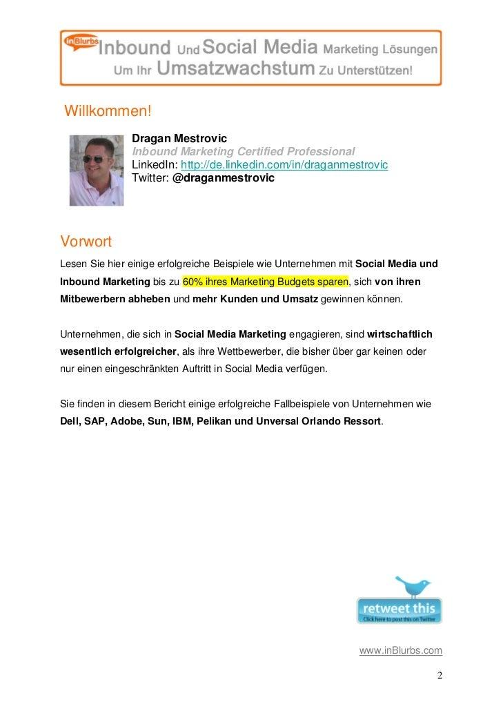 Inblurbs Bericht Wie Social Media Marketing Den Finanziellen Erfolg Eines Unternehmens Steigert Slide 2