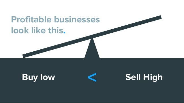 Buy low Sell High Profitable businesses look like this. <