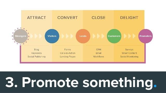 3. Promote something.