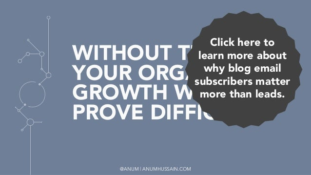 @ANUM | ANUMHUSSAIN.COM WITHOUT THEM, YOUR ORGANIC GROWTH WILL PROVE DIFFICULT. Click here to  learn more about why blog e...