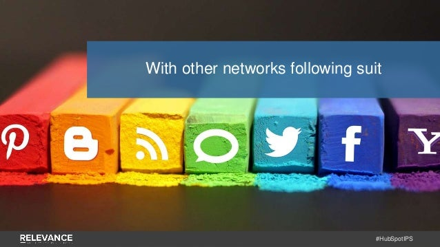 #HubSpotIPS With other networks following suit