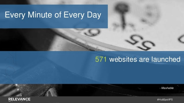 #HubSpotIPS - Mashable 571 websites are launched Every Minute of Every Day