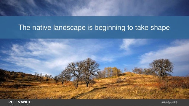 #HubSpotIPS The native landscape is beginning to take shape