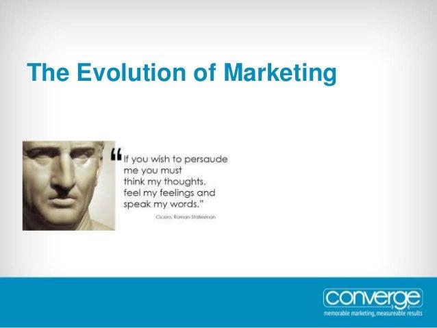 The Evolution of Marketing