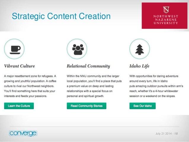 July 21 2014 - 18  Strategic Content Creation