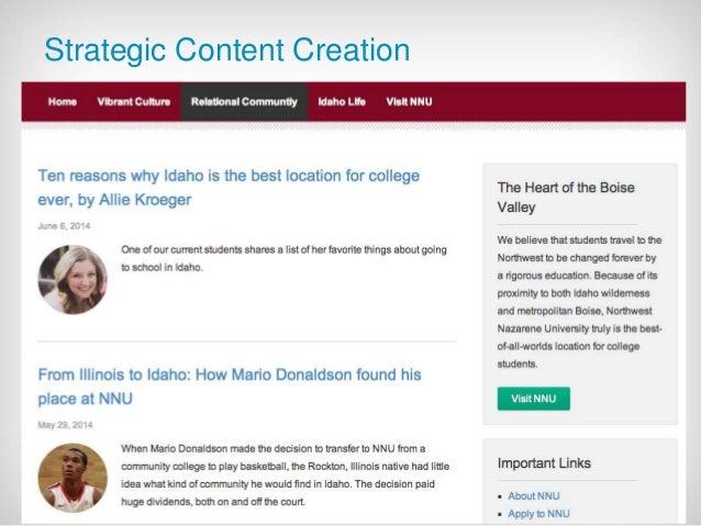 July 21 2014 - 19  Strategic Content Creation