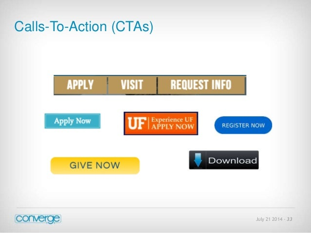 July 21 2014 - 33  Calls-To-Action (CTAs)