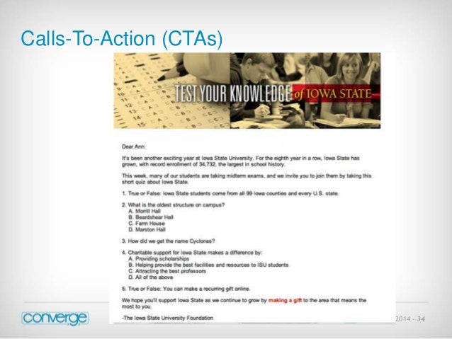 July 21 2014 - 34  Calls-To-Action (CTAs)