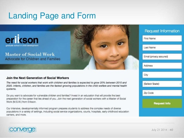July 21 2014 - 40  Landing Page and Form