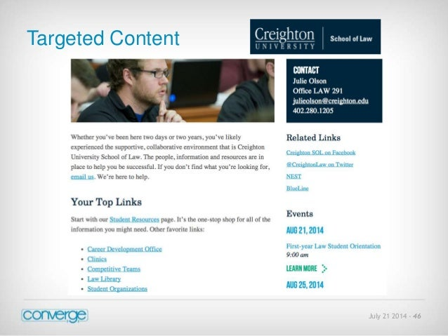 July 21 2014 - 46  Targeted Content