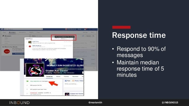 INBOUND15@marismith Response time • Respond to 90% of messages • Maintain median response time of 5 minutes