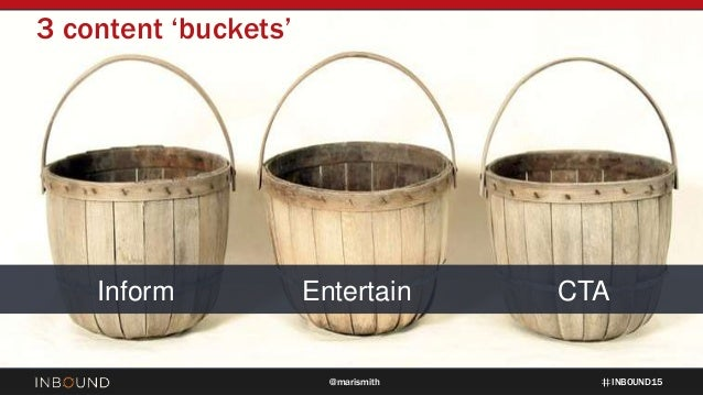 INBOUND15@marismith Inform Entertain CTA 3 content 'buckets'