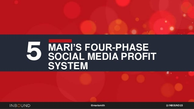INBOUND15@marismith 5 MARI'S FOUR-PHASE SOCIAL MEDIA PROFIT SYSTEM