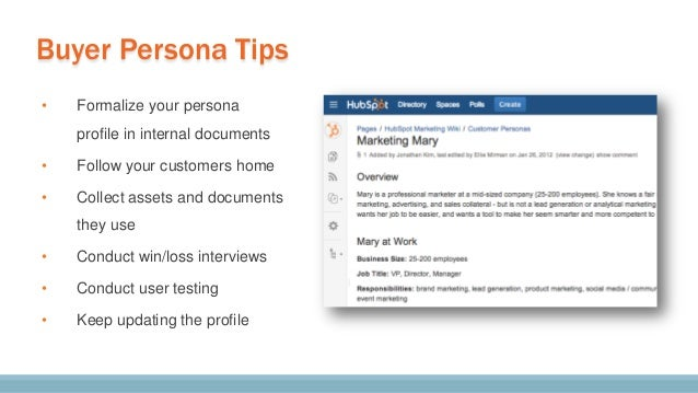 To teach the persona, have new hires write case studies.