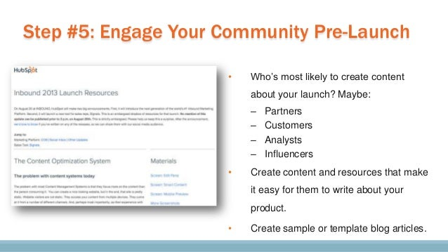 "If you""re launching via a big presentation, d o an internal dry-run."