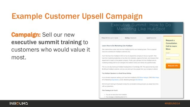 How to Turn Your Customer Base into a Revenue Engine [INBOUND 2014] Slide 43