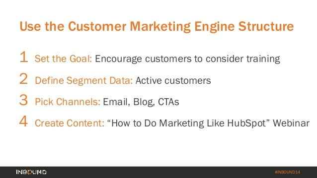 #INBOUND14 CTA Drives to MQL Customer Landing Page All signups get a follow up call from one of our customer service manag...