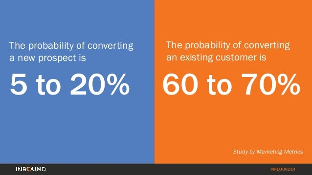How to Turn Your Customer Base into a Revenue Engine [INBOUND 2014] Slide 5
