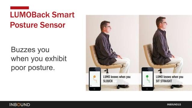 Buzzes you when you exhibit poor posture. INBOUND15 LUMOBack Smart Posture Sensor
