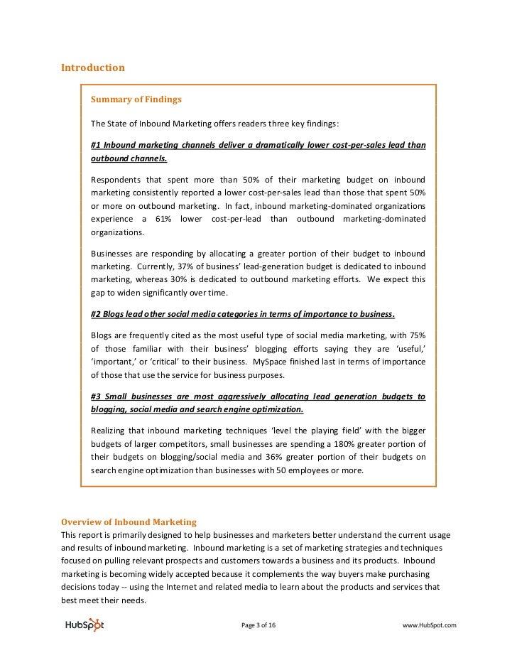 State of Inbound Marketing by HubSpot Slide 3