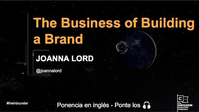 Joanna Lord Chief Marketing Officer @joannalord