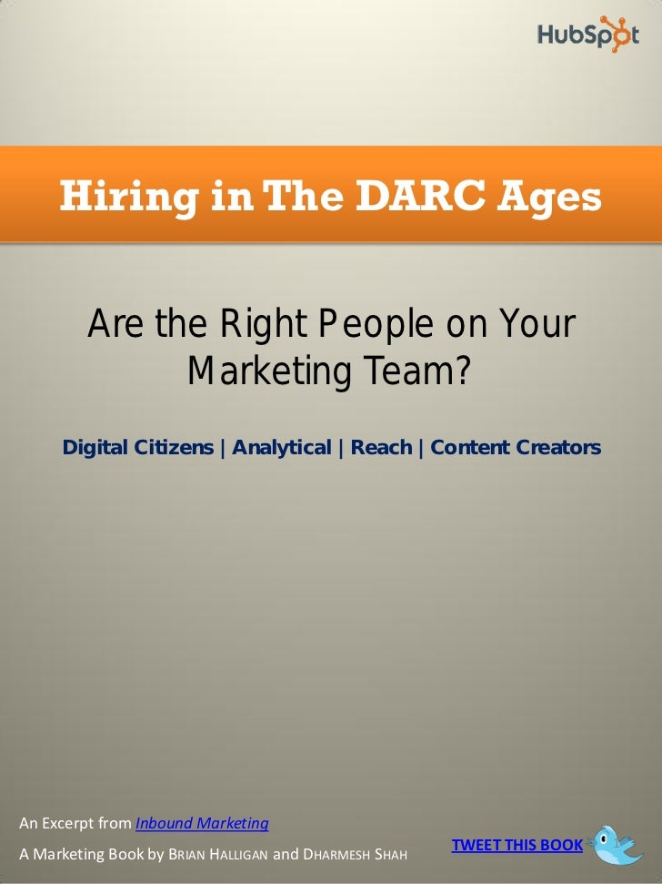Hiring in The DARC Ages         Are the Right People on Your               Marketing Team?     Digital Citizens | Analytic...