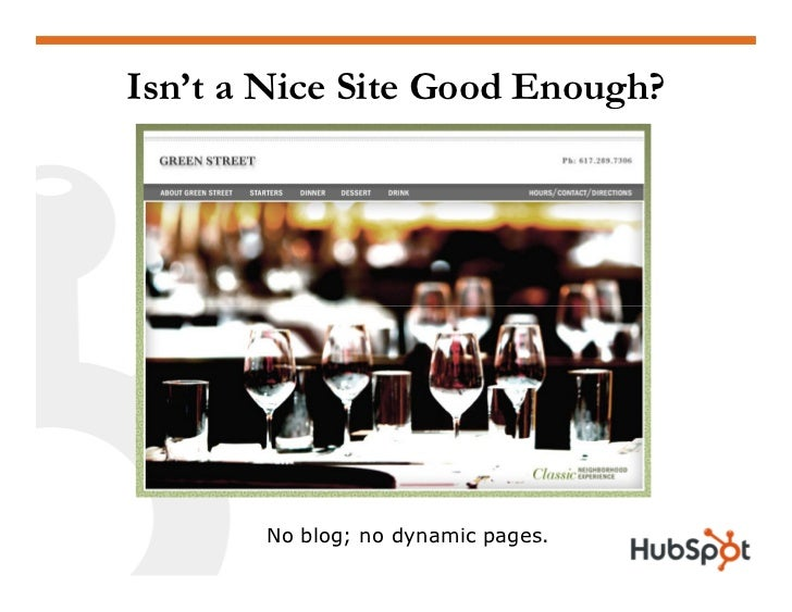 What Does a Blog Add (Besides Work)?              Similar site functions, but site has a blog.