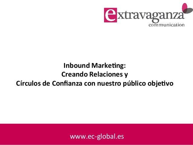 www.ec-‐global.es     Inbound  Marke-ng:   Creando  Relaciones  y   Círculos  de  Confianza  con  nu...
