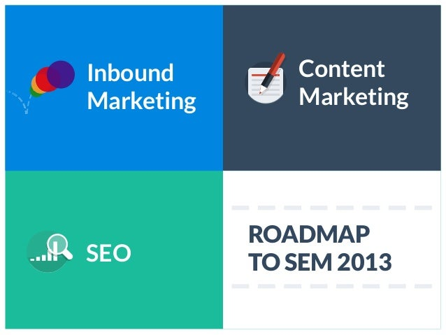 InboundMarketingContentMarketingSEOROADMAPTO SEM 2013
