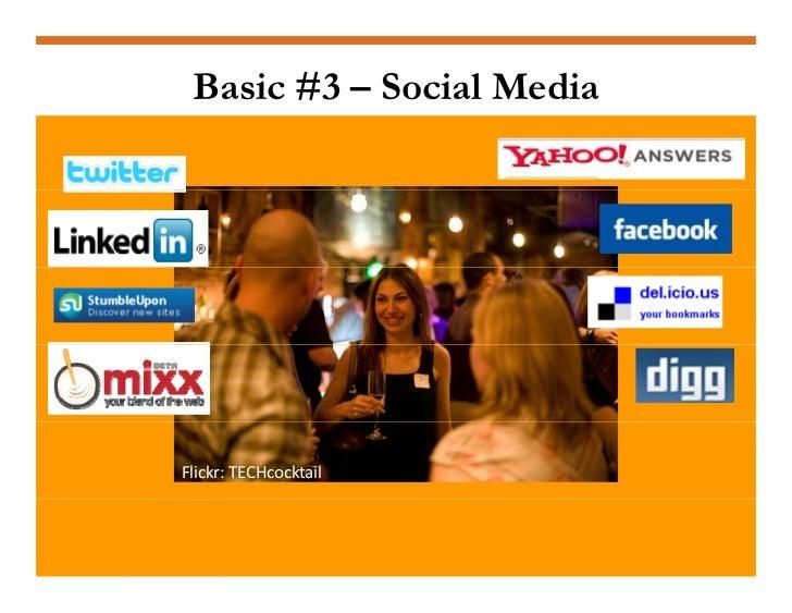 Basic #3 – Social Media     Flickr:TECHcocktail