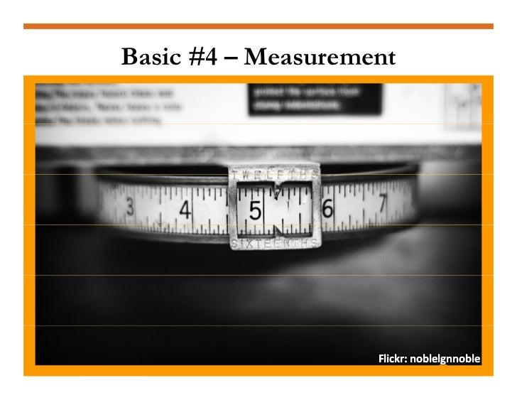 Basic #4 – Measurement                         Flickr:noblelgnnoble                     Flickr:noblelgnnoble